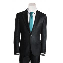 Anthrazit gestreifter Anzug